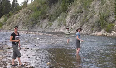 Fly Fishing in Montana on a remote pack trip