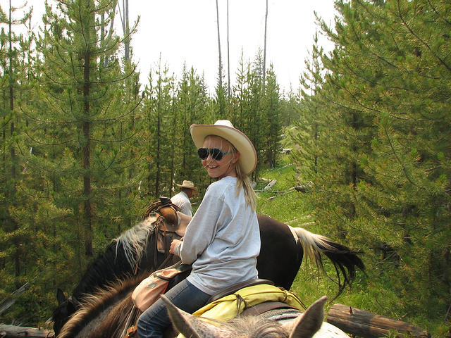 Horseback Riding on Trail